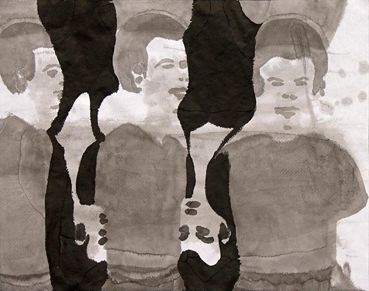untitled (boys´n girls) 35.5 x 47 cm, ink on paper, 2012