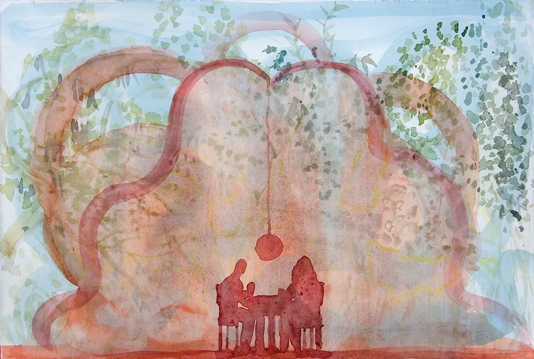 untitled (cabaña), 32 x 47,5 cm, watercolour, 2014