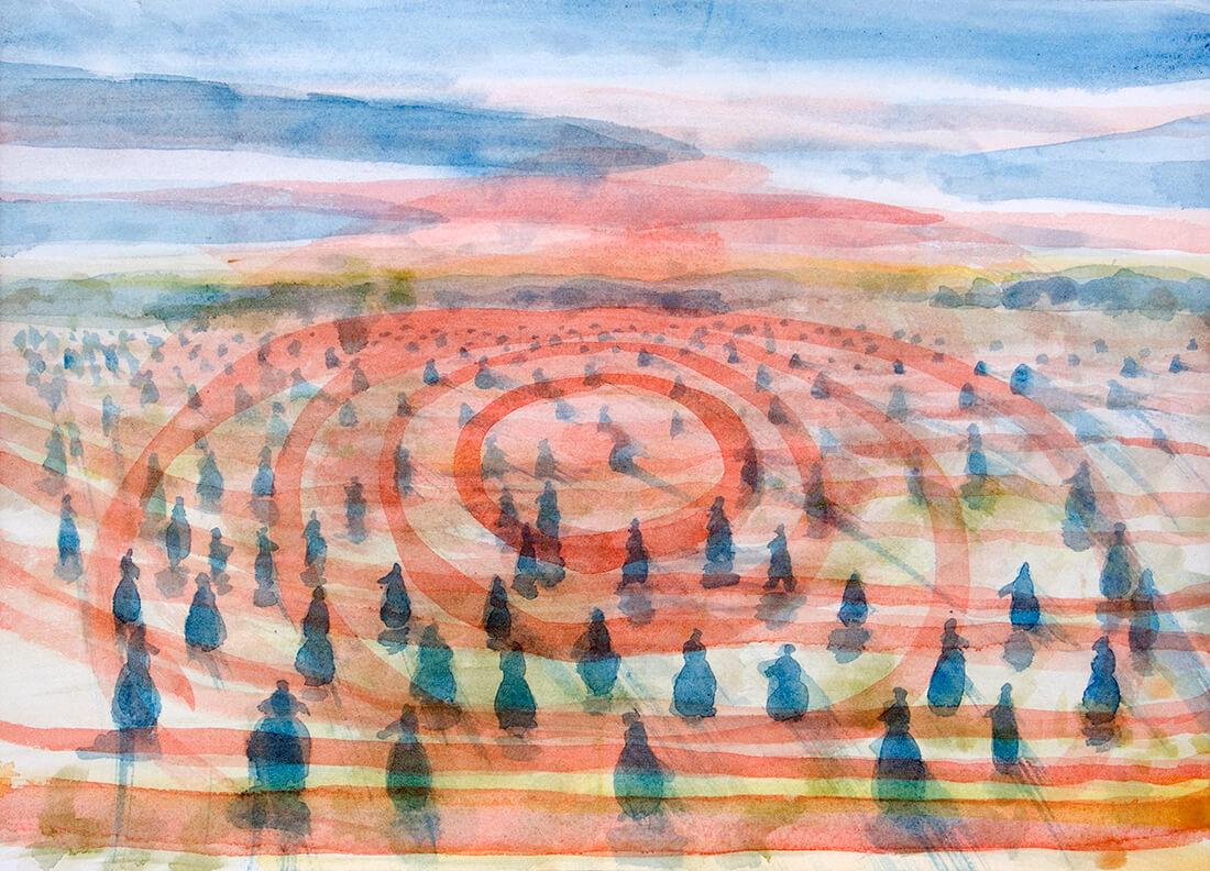 untitled (sembradoras campo), 26 x 36 cm, watercolour, 2014