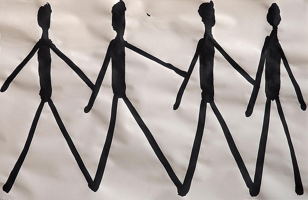 untitled (stick-figures), 32 x 49,8 cm, 2016