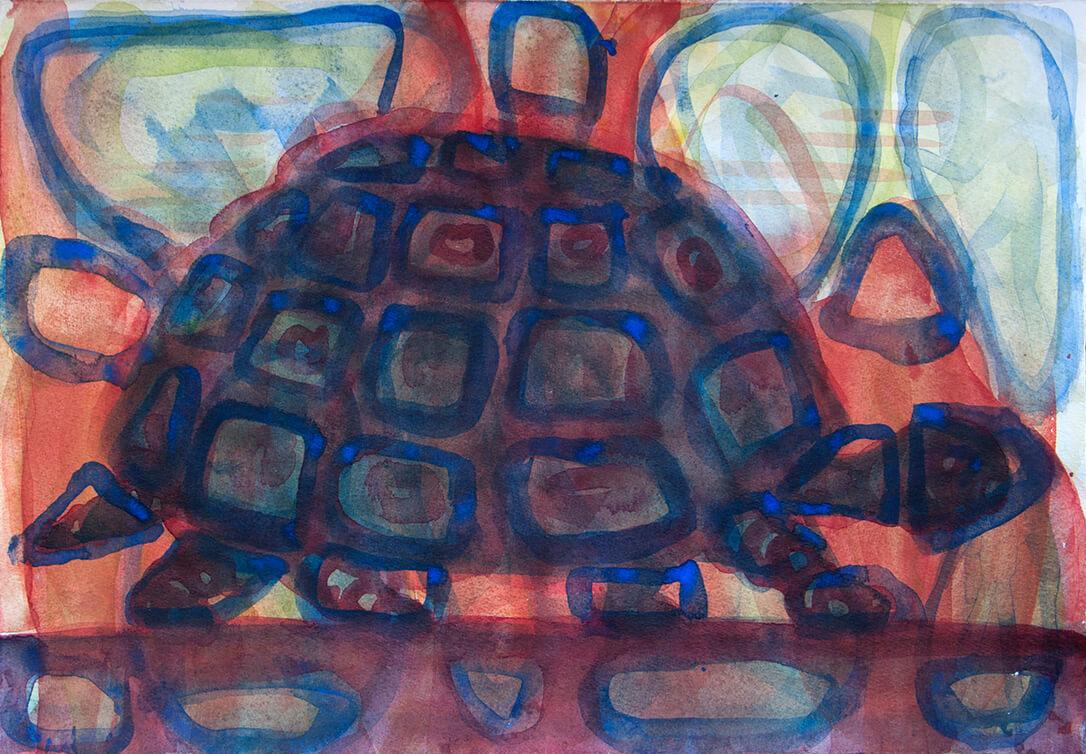 untitled (tortoise), 42 x 29 cm, watercolour, 2017